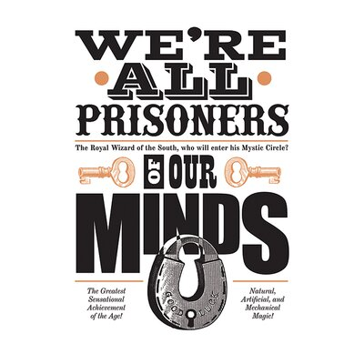 Art Group Asintended, Prisoners Of Our Minds Vintage Advertisement Canvas Wall Art