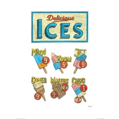 Art Group Delicious Ices by Barry Goodman Vintage Advertisement