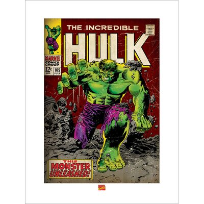 """Art Group Incredible Hulk """"Monster Unleashed"""" Graphic Art"""