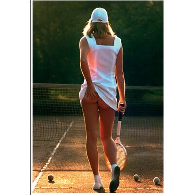 Art Group Tennis Girl Photographic Print