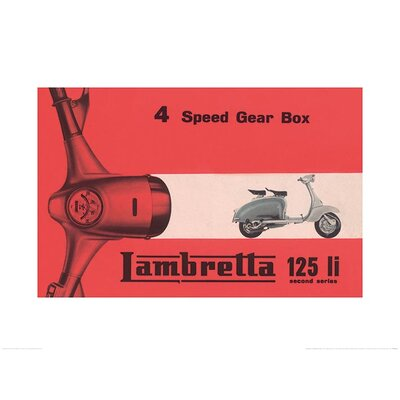 Art Group Lambretta - Li 4 Speed Gear Box Vintage Advertisement