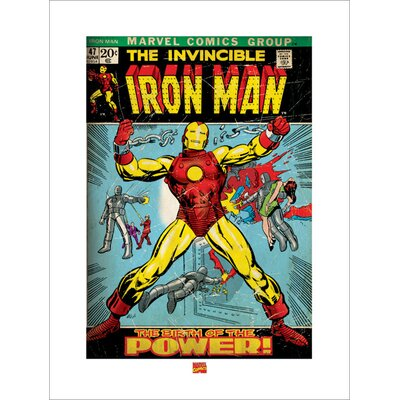 "Art Group Iron Man ""Birth of Power"" Vintage Advertisement"