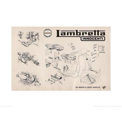 Art Group Lambretta - Line Drawing Vintage Advertisement