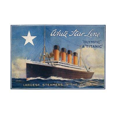 Art Group Titanic - White Star Line Vintage Advertisement