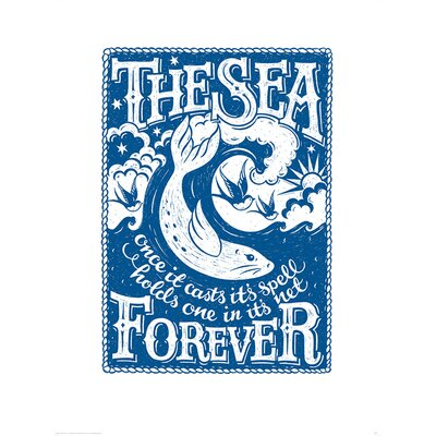 Art Group Snowdon Designs The Sea Forever Graphic Art