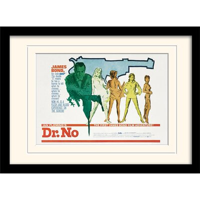 "Art Group James Bond ""Doctor No 007"" Framed Vintage Advertisement"