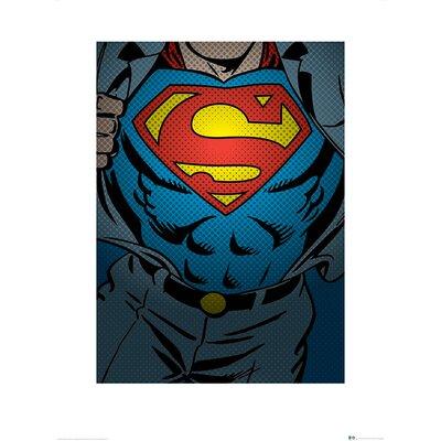 Art Group DC Comics Superman Torso Graphic Art