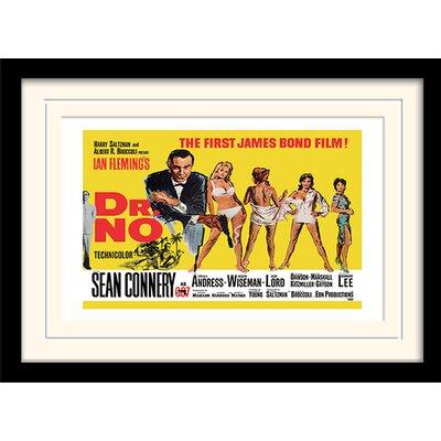 """Art Group James Bond """"Doctor No"""" Framed Vintage Advertisement"""