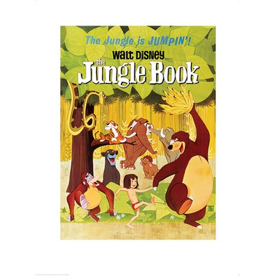Art Group The Jungle Book - Jumpin Poster Vintage Advertisement