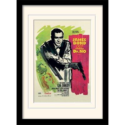 """Art Group James Bond """"Doctor No French"""" Framed Vintage Advertisement"""