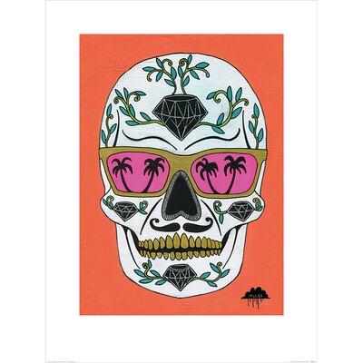 Art Group Mulga, Schubert the Diamond Sugar Skull Graphic Art