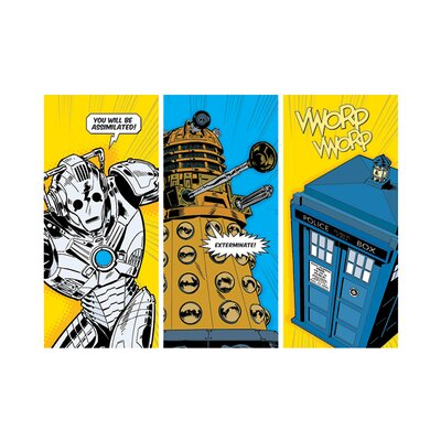 Art Group Doctor Who Comic Sections Graphic Art