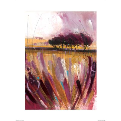 Art Group Through the Bracken in Mauve by Simon Howden Art Print
