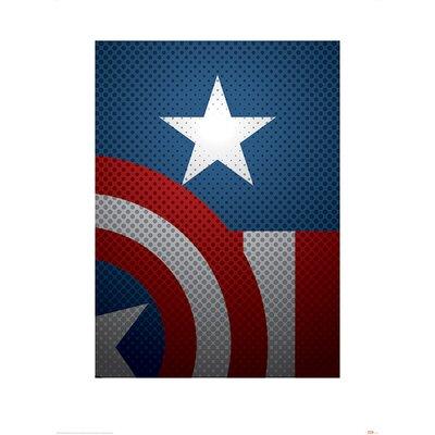 Art Group Avengers Assemble, Captain America Torso Graphic Art