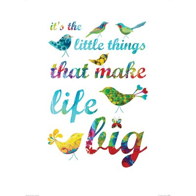 Art Group It's the Little Things by Kathy Panton Typography