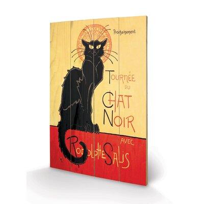 Art Group Chat Noir Vintage Advertisement Plaque