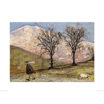 Art Group Walking with Mansfield by Sam Toft Art Print
