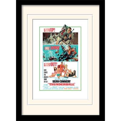 "Art Group James Bond ""Thunderball - Look Out"" Framed Vintage Advertisement"