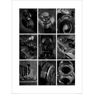 Art Group B and W Cameras by Ian Winstanley Photographic Print