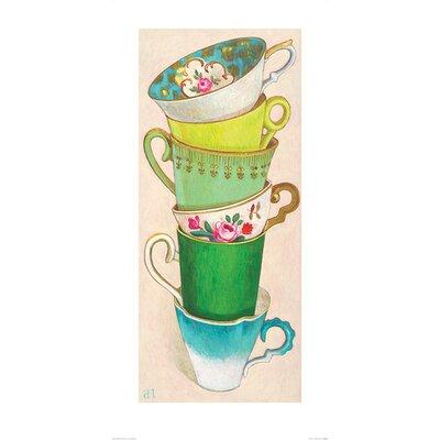 Art Group 6 Tea Cups by Andrea Letterie Art Print