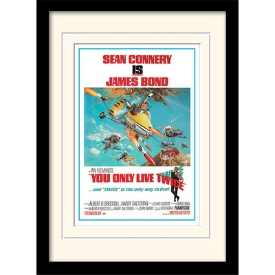 "Art Group James Bond ""You Only Live Twice One-Sheet"" Framed Vintage Advertisement"