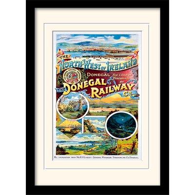 Art Group Donegal Railway Framed Vintage Advertisement