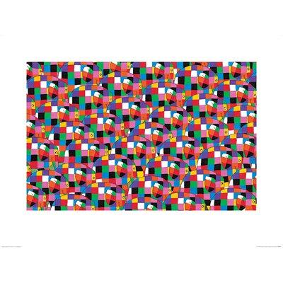 Art Group Elmer, Pattern by David McKee Graphic Art