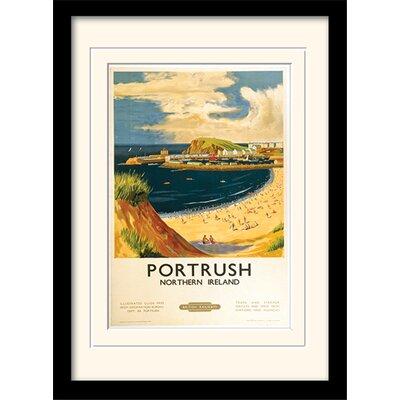 Art Group Portrush Mounted Framed Vintage Advertisement