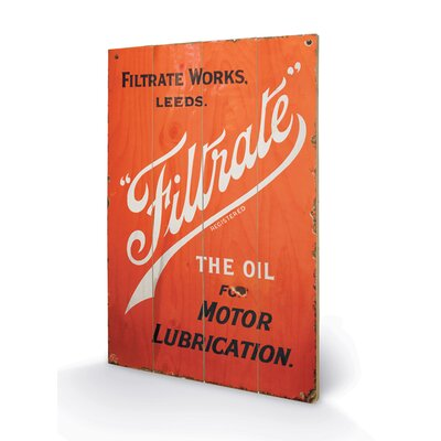 Art Group Filtrate Oil Vintage Advertisement Plaque