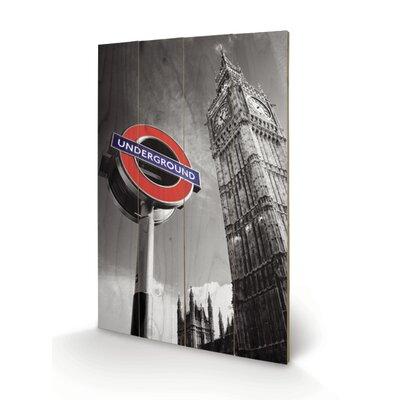 Art Group London Underground Sign and Big Ben Graphic Art