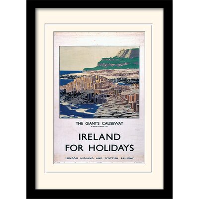 Art Group The Giant's Causeway Framed Vintage Advertisement