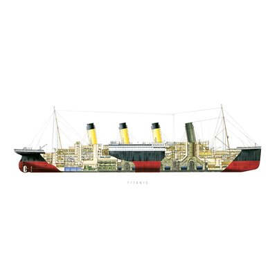 Art Group Titanic - Cutaway Graphic Art