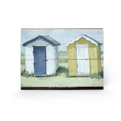 Art Group Two Beach Huts by Jane Hewlett Art Print Plaque