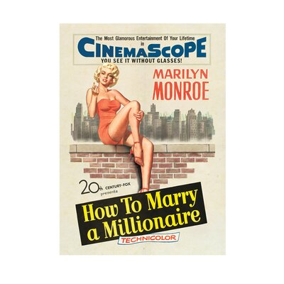 Art Group Marilyn Monroe Millionaire Vintage Advertisement