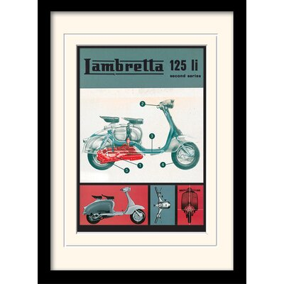 "Art Group Lambretta ""125 LI"" Framed Vintage Advertisement"