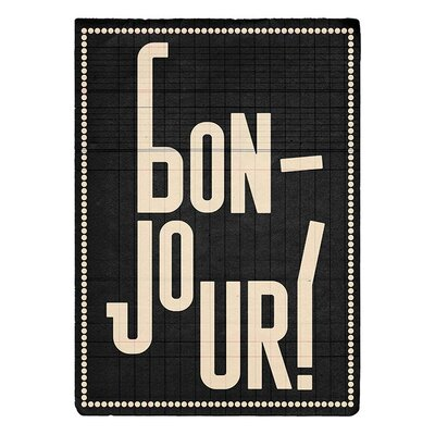 Art Group Bonjour by Edu Barba Typography
