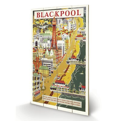Art Group Blackpool Vintage Advertisement Plaque