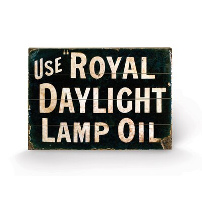 Art Group Royal Daylight Oil Typography Plaque