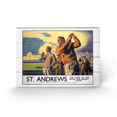 Art Group Scotland St Andrews Vintage Advertisement Plaque