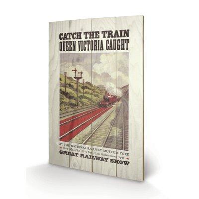 Art Group Catch the Train Vintage Advertisement Plaque