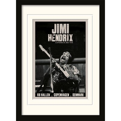 """Art Group Jimi Hendrix """"Copenhagen"""" Mounted Framed Graphic Art"""