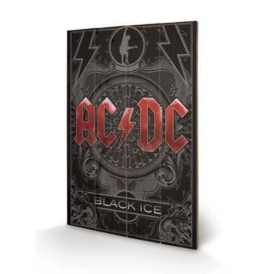 Art Group AC-DC, Black Ice Vintage Advertisement Plaque