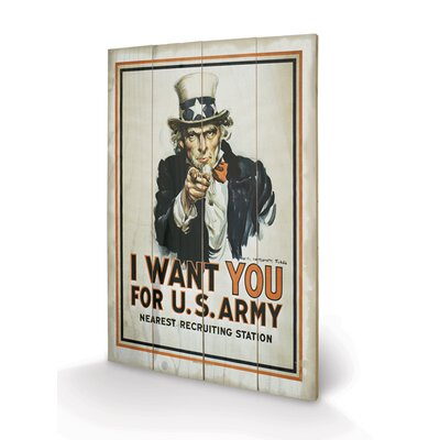 Art Group Uncle Sam, I Want You Graphic Art Plaque