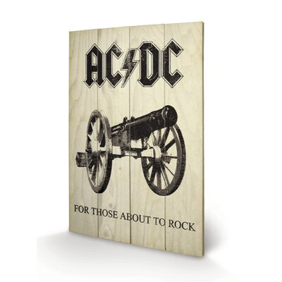 Art Group AC-DC, For Those About to Rock Vintage Advertisement Plaque