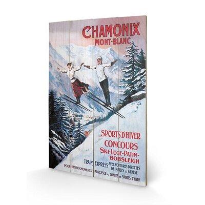 Art Group Chamonix Mont-Blanc Vintage Advertisement Plaque