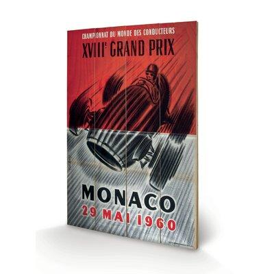 """Art Group Monaco """"2"""" Vintage Advertisement Plaque"""