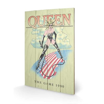 Art Group Queen, the Game 1980 Vintage Advertisement Plaque