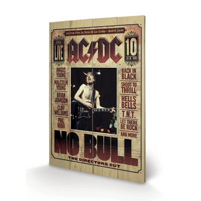 Art Group AC-DC, No Bull Vintage Advertisement Plaque