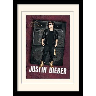 "Art Group Justin Bieber ""Speakers"" Framed Graphic Art"
