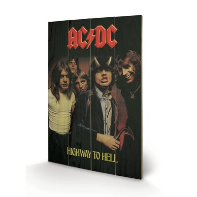 Art Group AC-DC, Highway to Hell Vintage Advertisement Plaque